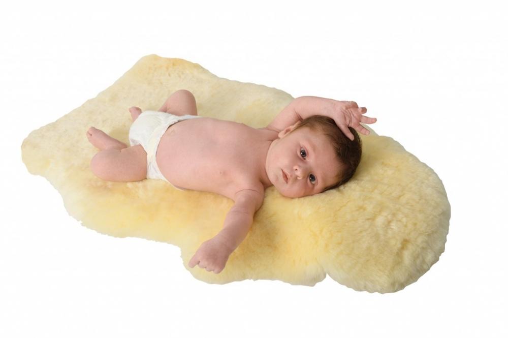 Baby-lamsvel, ecologisch bewerkt, 100% merinowol van Fellhof