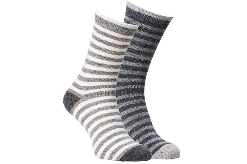 Fellhof, gestreepte alpaca-sokken