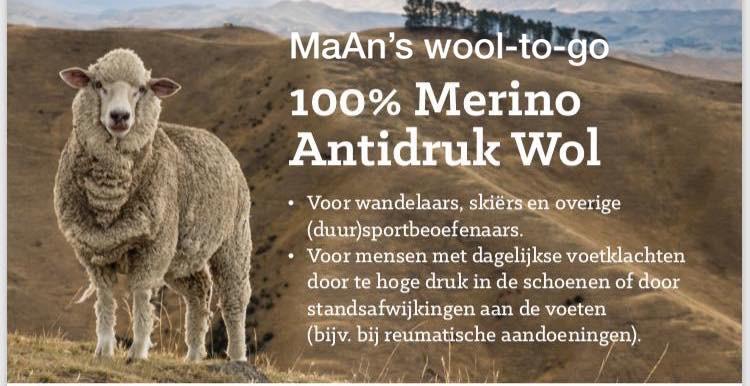 100% Merino Antidruk Wol