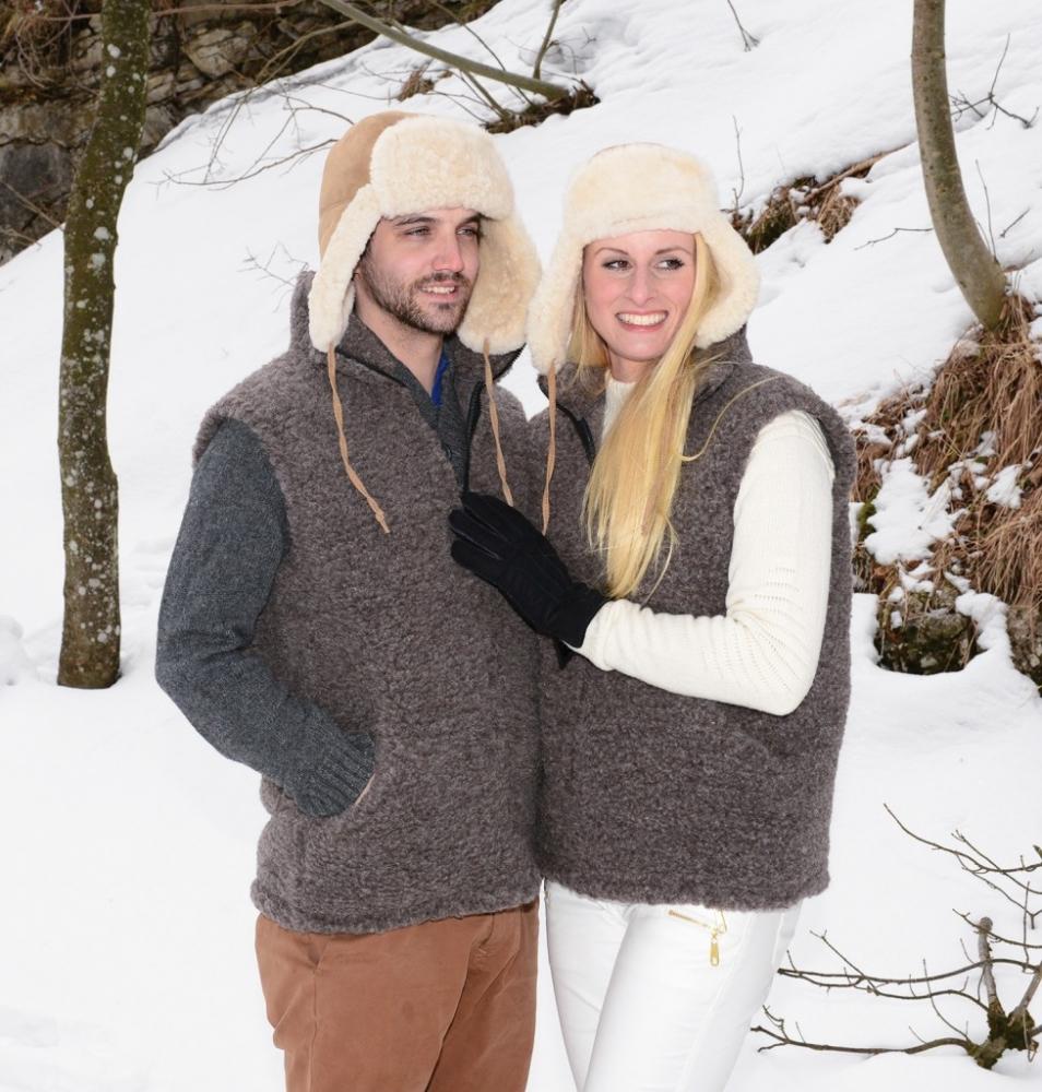 Warm vest van 100% scheerwol