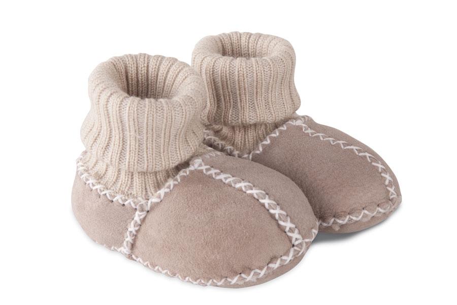 Fellhof babyschoentje, gevoerd met 100% merinowol