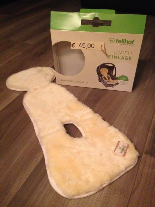 Babystoeltje inleg Unifit 100% lamswol van Fellhof