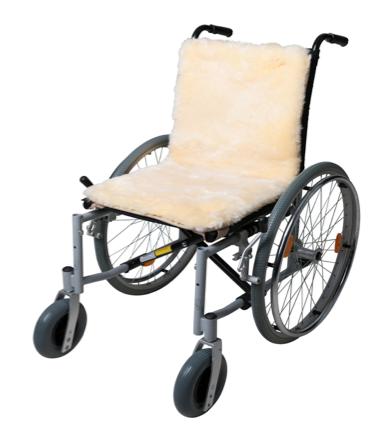 100% lamswollen rolstoel-inleg van Fellhof