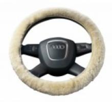 100% lamswollen hoes voor uw stuurwiel van Fellhof