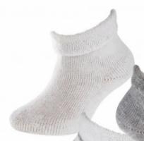 Babysok wit voor pasgeborene frotté 5118