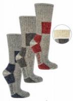 Trekking sokken 85% merinowol hoog model